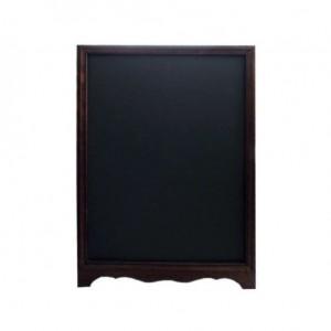 Τιμοκατάλογος ξύλινος μονής όψης σε καφέ χρώμα 70x105hcm 14-01-001