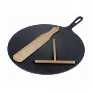 Τηγάνι κρέπας Ø32cm με ξυλάκι και σπάτουλα κρέπας ΙΤΑΛΙΑΣ 23-08-113