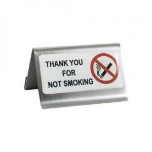 Σταντ 6x4hcm INOX με αυτοκόλλητη ετικέτα «Τhank you for not smoking» ΙΤΑΛΙΑΣ 23-08-181