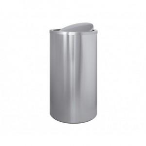 Κάδος INOX σε ματ με αιωρούμενο καπάκι ΙΤΑΛΙΑΣ Ø35x65hcm 23-10-185