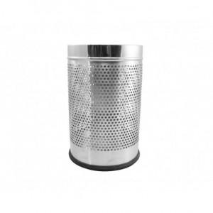 Χαρτοδοχείο INOX τρυπητό γυαλιστερό σε δύο διαστάσεις 23-13-05x