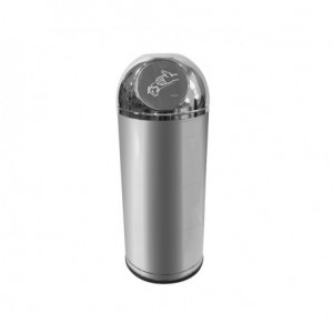 Κάδος PUSH INOX Ø38x93hcm χωρίς σταχτοδοχείο, με εσωτερικό κάδο, ROSSIGNOL ΓΑΛΛΙΑΣ 23-16-105