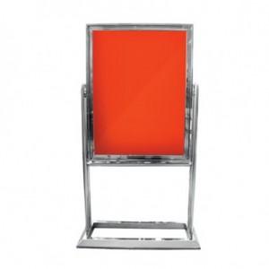 Πίνακας ανακοινώσεων και διαφημίσεων περιστρεφόμενος INOX 82x106x135cm 23-17-196