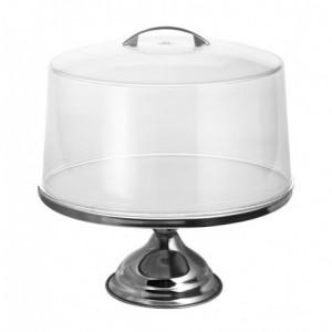 Καπάκι με χερούλι ακρυλικό Ø30cm για τουρτιέρα INOX Ø32x17hcm 23-29-204