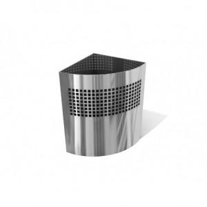Χαρτοδοχείο INOX AISI 304 γωνιακό, σε ματ και γυαλιστερό 22x22x32hcm 23-33-10x