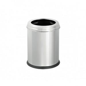 Χαρτοδοχείο INOX γυαλιστερό με πλαστικό εσωτερικό κάδο σε δύο διαστάσεις 23-55-00x