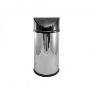 Κάδος INOX με αιωρούμενο μαύρο καπάκι Ø24x52,5hcm 23-55-047