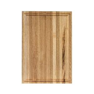 Ξύλινο πλατώ καστανιάς Mix Grill 38×28cm με λούκι ΚΑΣ-020172