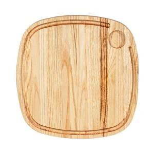 Ξύλινο πλατώ καστανιάς Mix Grill 35×35cm με λούκι και ντιπ ΚΑΣ-020191