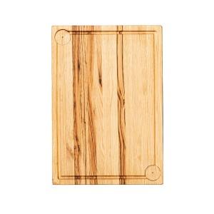 Ξύλινο πλατώ καστανιάς Mix Grill 50×35cm με λούκι και δύο ντιπ ΚΑΣ-020230