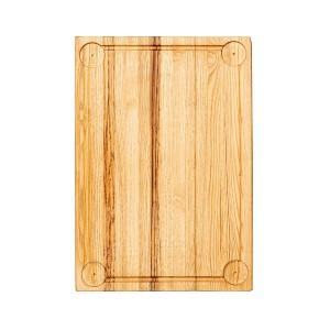 Ξύλινο πλατώ καστανιάς Mix Grill 45×30cm με λούκι και τέσσερα ντιπ ΚΑΣ-020233